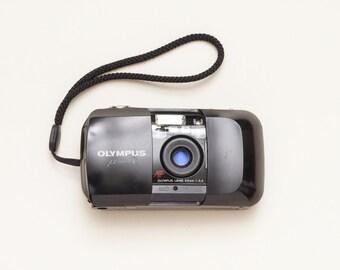 Olympus Mju I Black 35mm Compact Film Camera - Fully Working