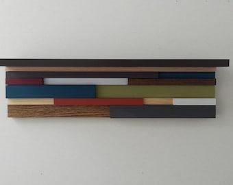 Modern Wood Shelf - Modern Rustic Floating Wall Shelf - Wall Rack - Storage - Wood Wall Art - Wall Decor