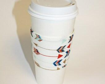 Golden Arrows Reusable Coffee Sleeve