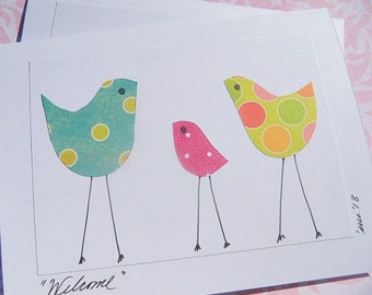 Baby Shower Card - Card for new baby - Welcome Baby Card - Congratulations on Baby Card - Baby Shower Thank You Cards - PCBC