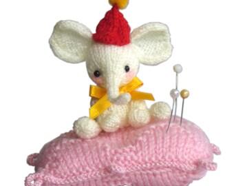 Elephant Pincushion Pdf Email knit PATTERN