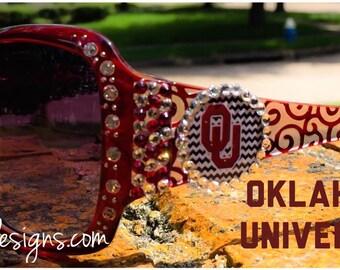 OU Inspired Designer Sunglasses Oklahoma University Sooners