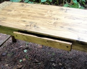 r2 54 x 25 Inch Farm Door Table or Desk With Optional Drawer