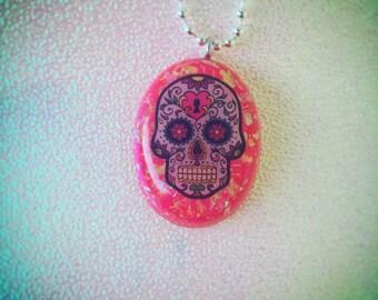 Dia de los Muertos Skull Necklace