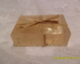 """4 Oz. Pipe Tobacco Scented Dtergent Free Glycerin Soap 3.5 x 2 x 1.0 """""""