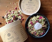 HEART CHAKRA TISANE - Love & Relatingships + Rose Quartz Crystal Ethereal Body System Support Intentional Herbal Gemstone Infusions