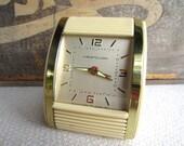Vintage Art Deco Westclox Travel Alarm Clock Glow Hands Wind Up Hong Kong