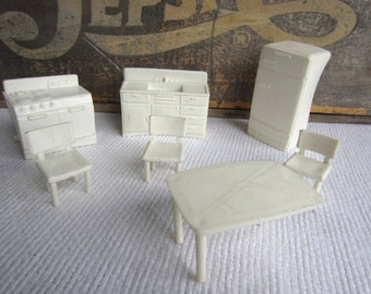Vintage 1950s 1960s Superior Dollhouse Furniture White Kitchen