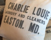 RESERVED Easton Maryland Laundry Sack Pillow