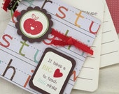 Teacher appreciation book, class gift, teacher hift, end of school year gift, journal - 24 pages