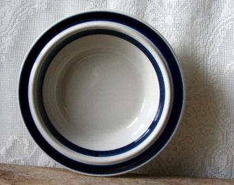 Vintage Arabia Finland Soup Cereal Bowls X2 Ulla Procope Anemone