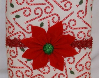 Price Reduction - CLEARANCE SALE - Festive Padded Christmas Photo Album - Peppermint Sticks and Holly