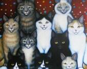 Family Reunion Original Heidi Shaulis oil painting