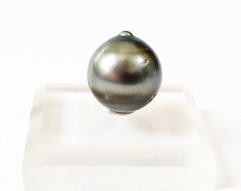 Natural Black Tahitian Pearl, Undrilled, 11 mm, Cultured Pearl