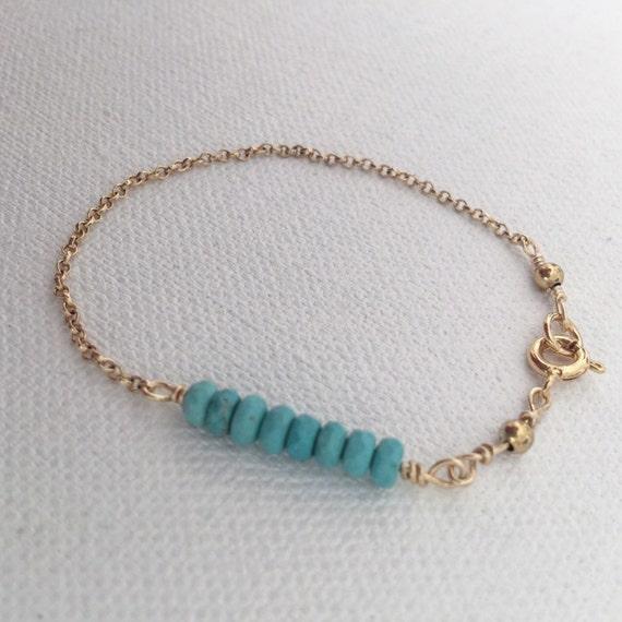 Eternal Eight Turquoise & Gold Bracelet