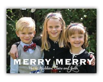Merry Merry - Custom Holiday Photo Card