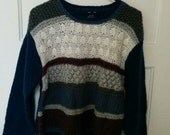 hand knit sweater jumper pullover large Lady Ballymoor grunge normcore ski