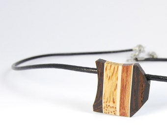 Women necklaces / wood necklace / wooden jewelry /pendant / isabelle ferland