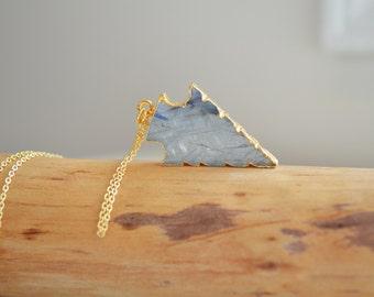 Labradorite Arrowhead , Arrow Necklace , Trendy Necklace , Labradorite Necklace , Boho Necklace , Gemstone Arrow Jewelry