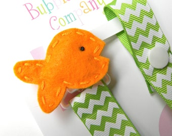 Pacifier holder, pacifier clip, fish pacifier clip, fish baby gift, goldfish, binky clip, binky holder, baby shower gift, paci clip