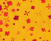 Handcrafted 2 Petal in Gold - Fabric by Alison Glass for Andover Fabrics - 1 Yard - By the Yard - AB-7395-Y