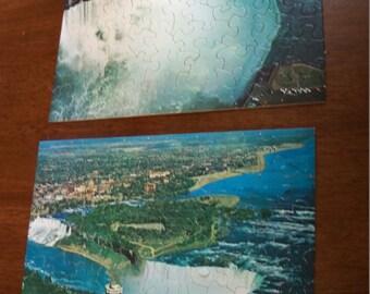 vintage  Niagara falls puzzles in box