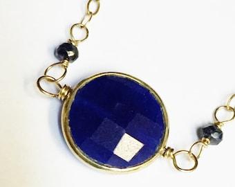 Sapphire Necklace  Blue Sapphire Necklace  Sapphire Gemstone Necklace  14K Gold Filled Necklace  Sapphire Jewelry