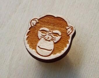 Ape lapel pin