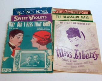 Vintage Sheet Music Covers for Art Projects
