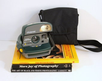 Polaroid One Step Express Camera and Polaroid Camera Bag