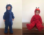 New Upcycled Elmo monster   cookie monster   toddler costume sizes 12 months - 3t