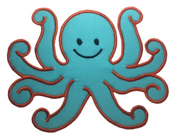 Iron On Octopus Applique Patch