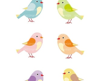 ON SALE Clipart birds, candy birds, instant download