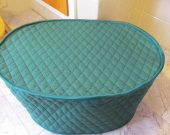 Hunter Green Oval Crock Pot Slow Cooker Cover Made To Order