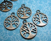 Copper Tree of Life Charm 15mm - 2pc