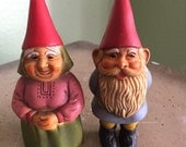 Leprechaun couple ornament figures