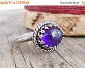 Clearance Sterling Amethyst Ring, Bezel Set Gemstone Ring, Purple Birthstone, Purple Amethyst Ring, Twig Jewelry for Women