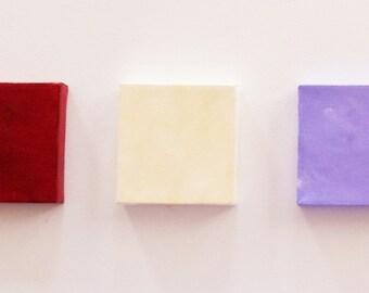 Crimson Lavender Cream Girl's Room Decor - Girl's Artwork - Light Purple Decor -Mini Canvas Art - Light Purple 5x5