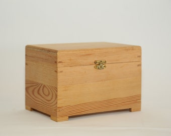 Chest Box with Hinged Lid