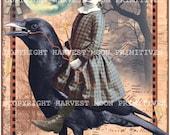MIDNIGHT RIDE - Primitive Halloween Postcards