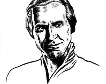 INKTOBER Day 3 original drawing: Khan