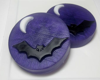 Bat Soap - Set of 2, Novelty Soap, Halloween Party Favors, Soap for Kids, Teacher Gift, Halloween Soap, Fall Soap. Glycerin Soap