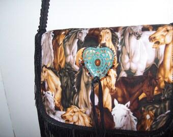 Many Horses Fringe Messanger Bag