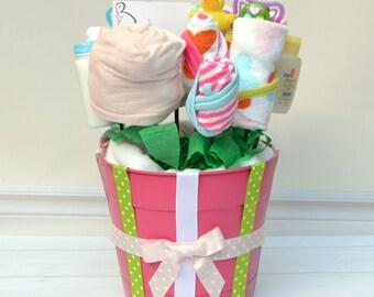 Baby Bath Set - Baby Gift Set - Bathtime Essentials Set - Girl Baby Gift - Baby Shower Gift - Baby Bouquet