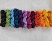 Russian Rainbow Mini Skeins Superwash Merino and Nylon Blend Sock Yarn