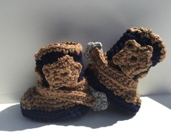 Cowboy Boots (Baby Booties)  Baby Shower Gift for Boy or Girl