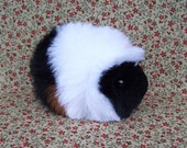 Black and White  Toy Guinea Pig Handmade Plushie RESERVED
