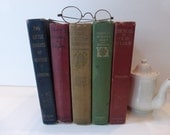 Vintage Five Fabulous Books Cottage Chic Farmhouse