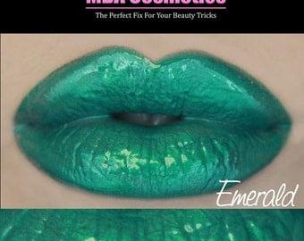 Green Lip Gloss-Sugar Babies Jojoba Lip Glaze-Pink Sugar Rush Flavor-Emerald