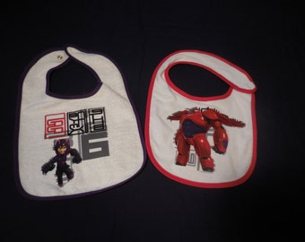 Big Hero Six inspired Bib Set of 2 (not a licensed product)